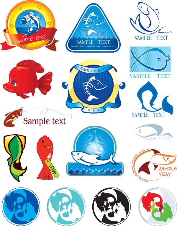 海洋元素图标素材