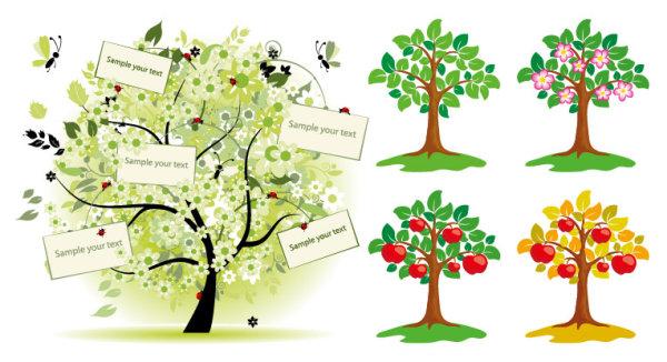 ppt素材 素材树木