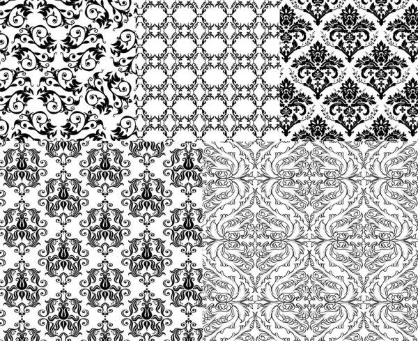 黑白欧式花纹