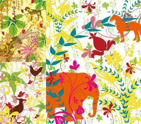 植物动物剪影图片