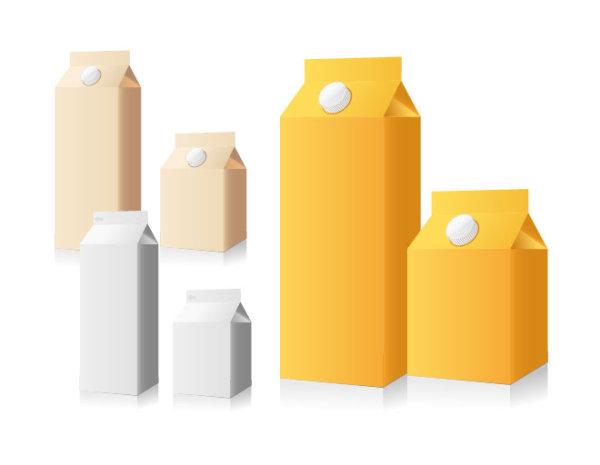 空白饮料包装盒-包装设计矢量图库-名片之家
