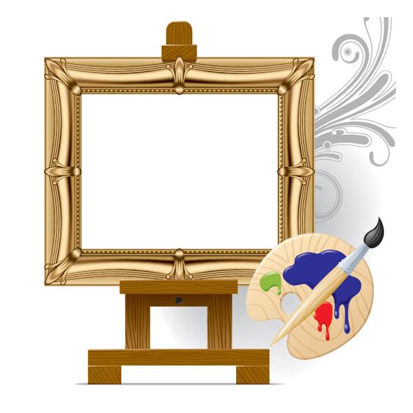 美术画板画架