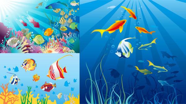 漂亮海底世界素材