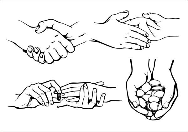 实用手势矢量2图片