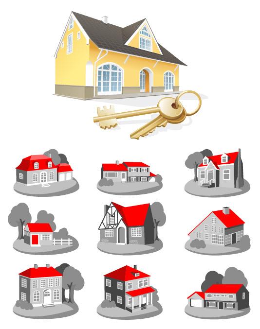 房子图标矢量