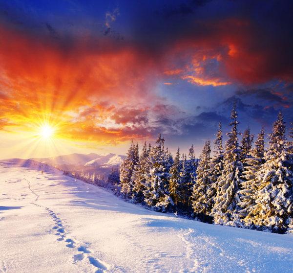 冬季美景7-自然风景高清图库-名片之家