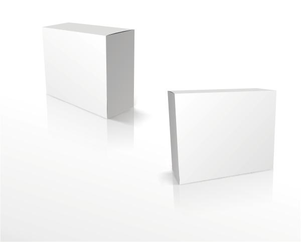 方形空白包装盒素材