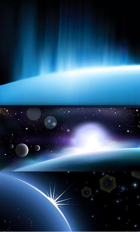 炫光太空背景素材