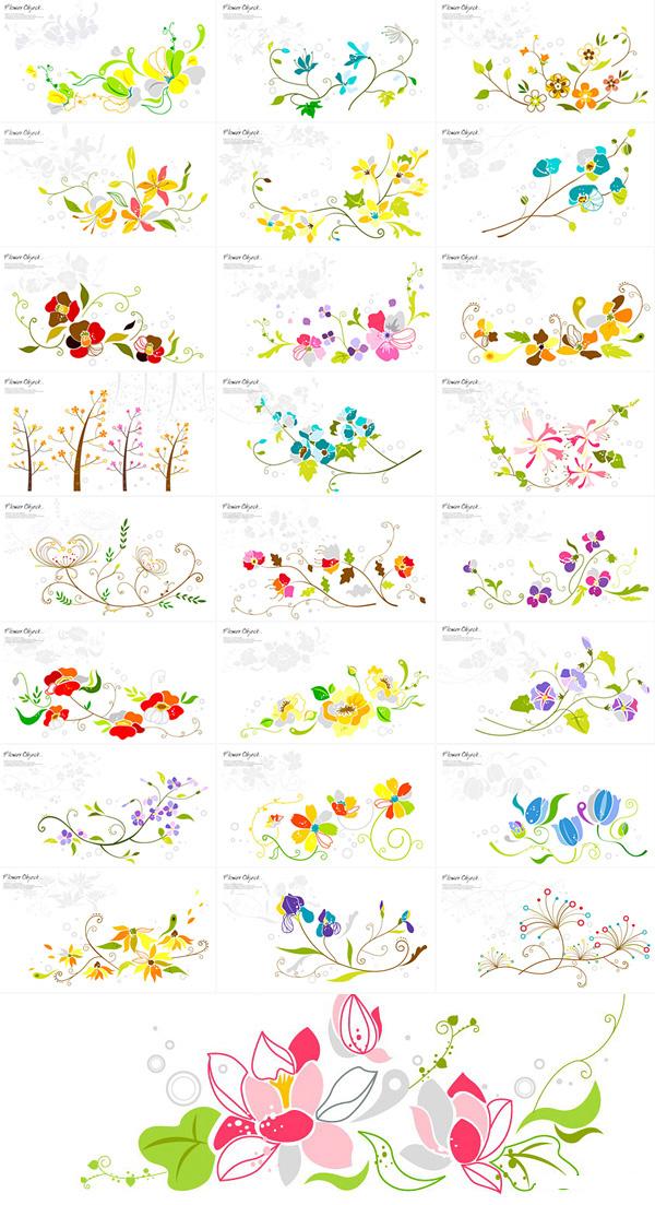 花纹花卉图案素材