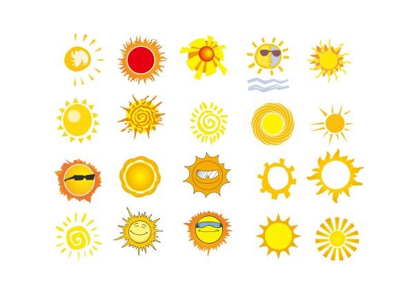 太阳矢量素材-卡通角色矢量图库-名片之家