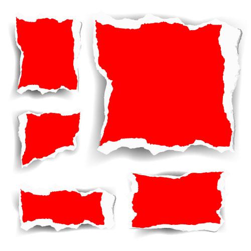 红色碎纸矢量素材