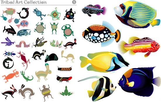 简笔画 动物 热带鱼