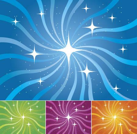 星光与旋转线条背-背景矢量图库-名片之家