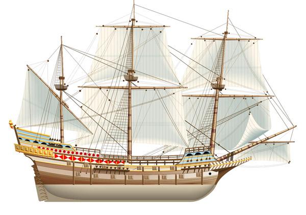 帆船矢量素材
