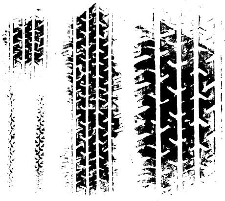 汽车轮胎痕迹-潮流矢量图库-名片之家