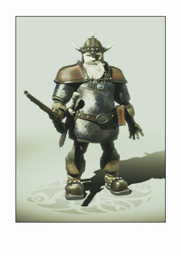 游戏枪手人物模型素材