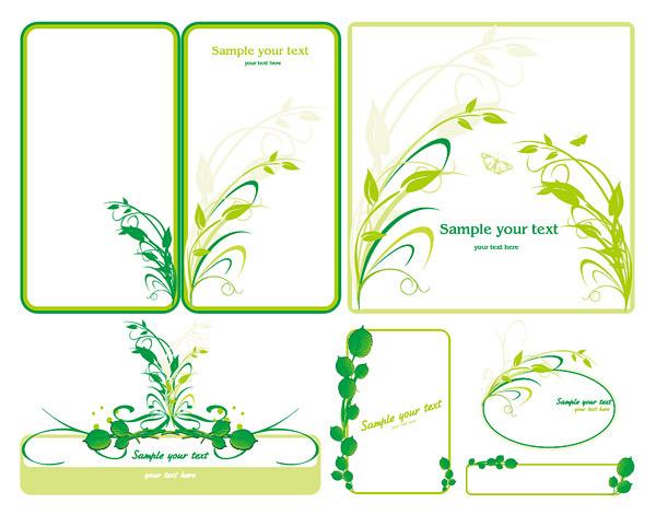 绿色植物边框素材