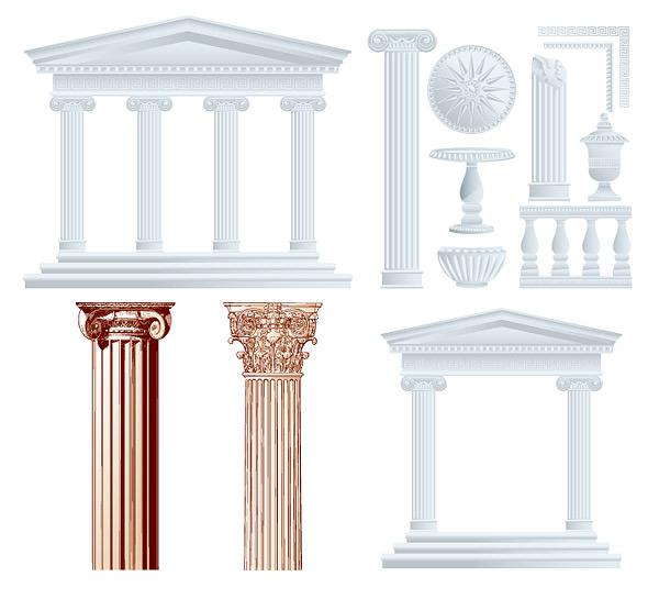 欧式花纹柱子素材
