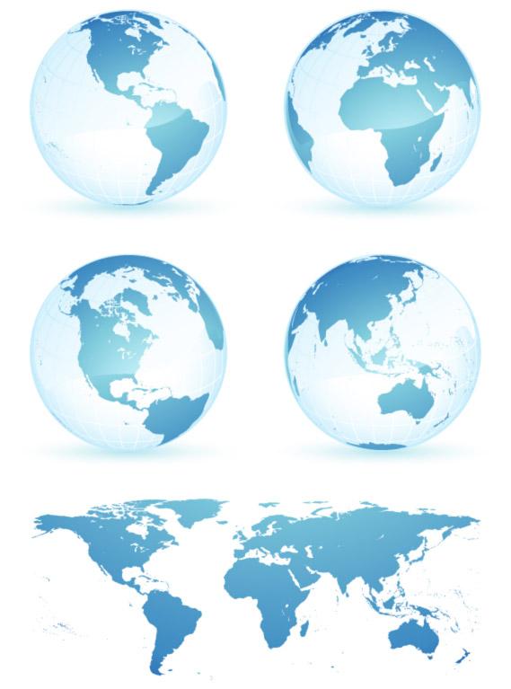 地球世界地图素材