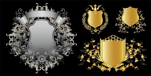 欧式花纹盾牌