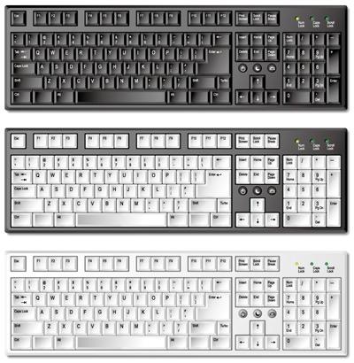 键盘矢量素材