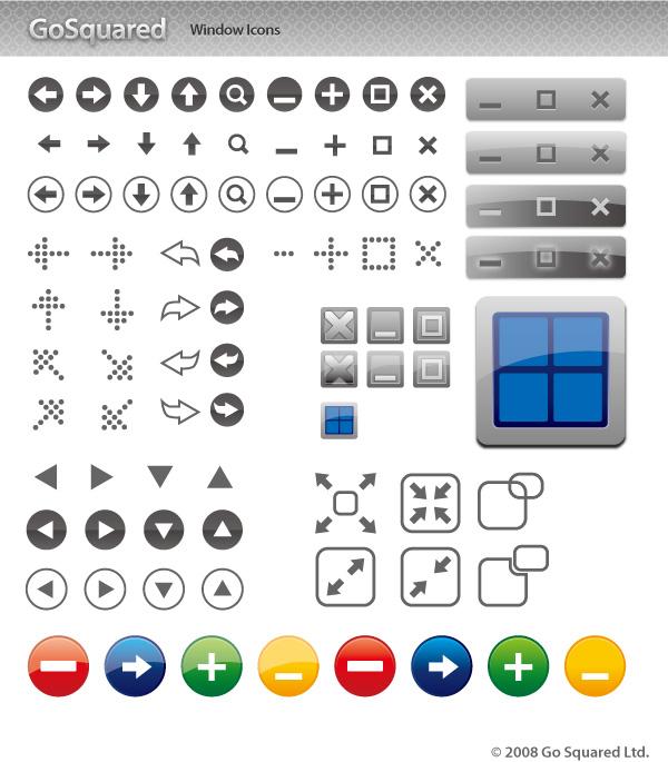 窗口图标按钮-网页图标矢量图库-名片之家