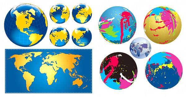 地球与世界地图素材