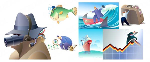 卡通商业插画素材