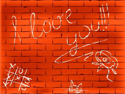 矢量涂鸦砖墙素材