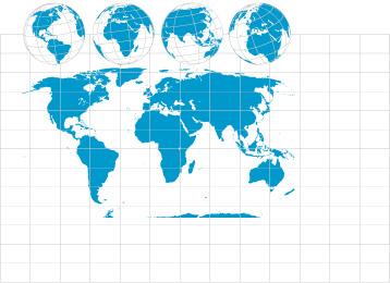 世界地图与地球素材