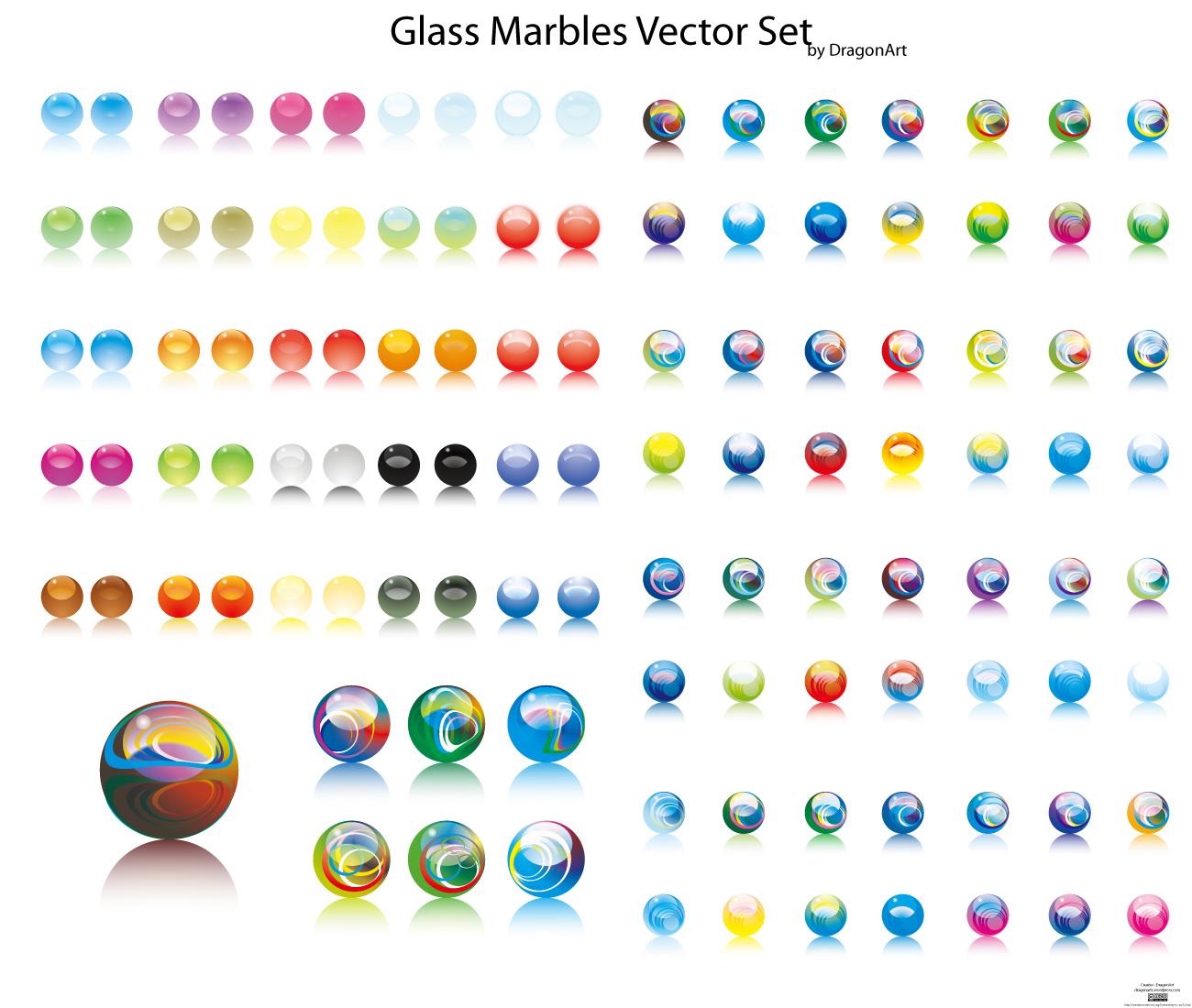 幻彩水晶圆球-各式图标矢量图库-名片之家