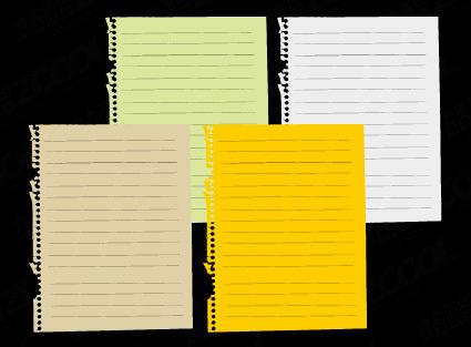 矢量笔记本纸张素材