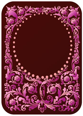 紫色欧式花纹-花纹矢量图库-名片之家