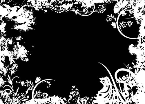 水墨边框背景_48-背景矢量图库-名片之家