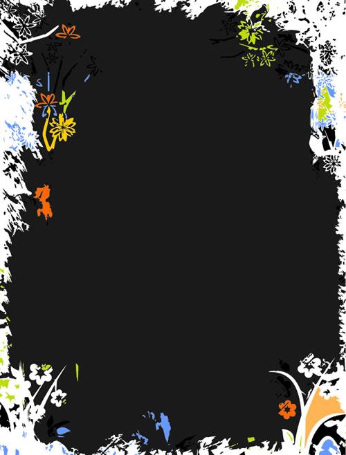 水墨边框背景_28-背景矢量图库-名片之家