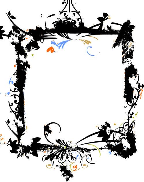 水墨边框背景_27-背景矢量图库-名片之家