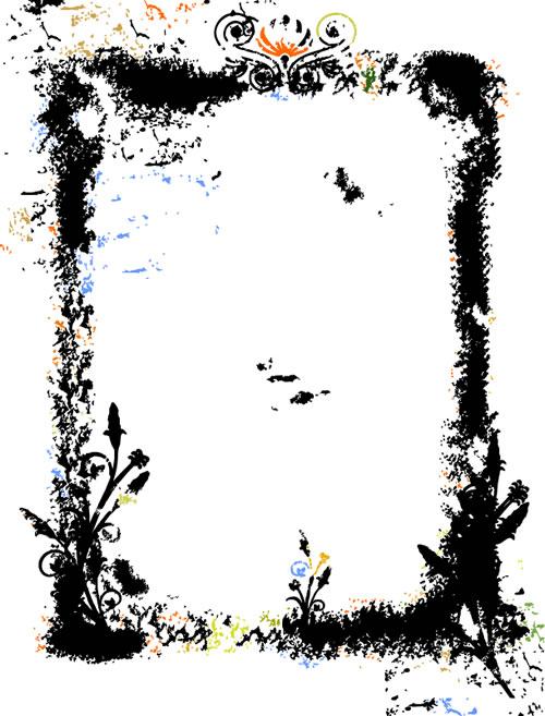 水墨边框背景_26-背景矢量图库-名片之家