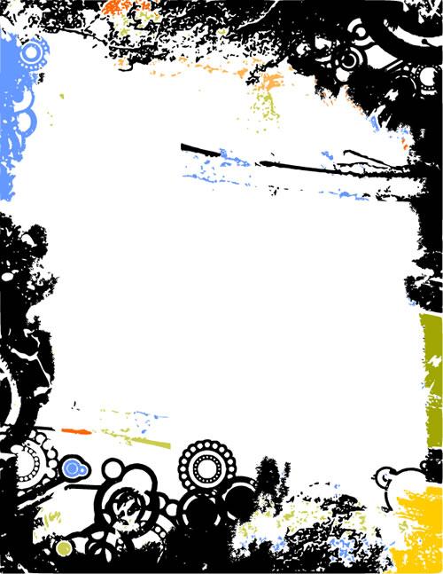 水墨边框背景_22-背景矢量图库-名片之家