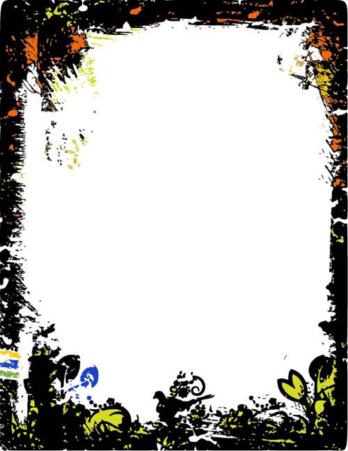 水墨边框背景_16素材