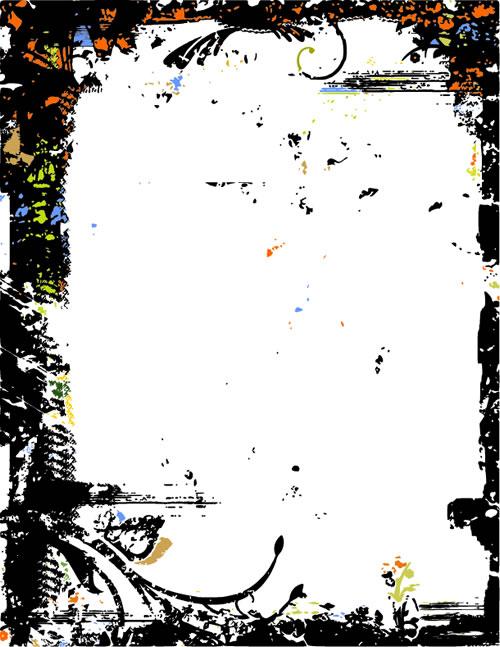水墨边框背景_13-背景矢量图库-名片之家