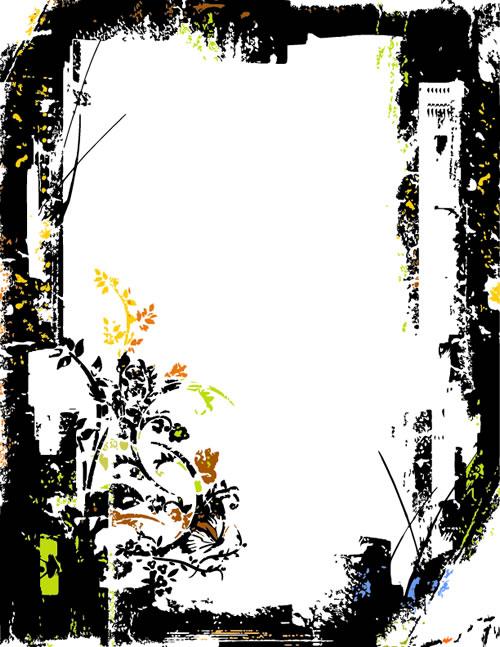 水墨边框背景_4素材