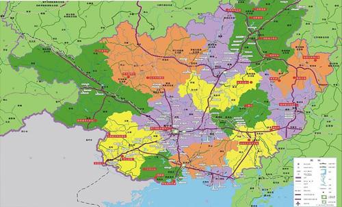 广西高速公路线路-地图矢量图库-名片之家
