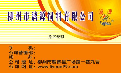 模板类型: 著名企业 模板介绍: 此名片是关于饲料,橙黄渐变背景,黄色