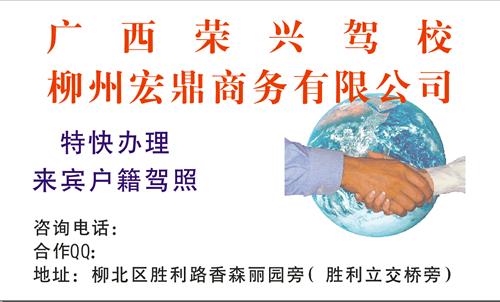 广西荣兴驾校名片_广西荣兴驾校名片模板免费下载
