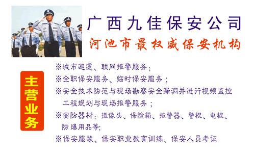 金城江区保安服务公司名片设计欣赏