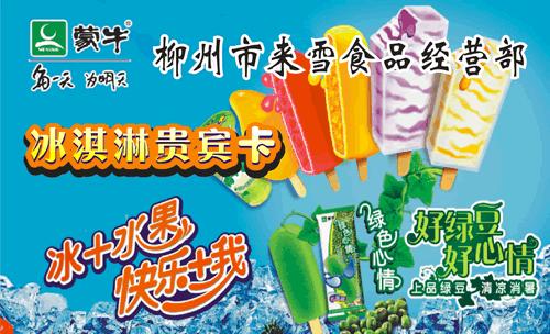 柳州市来雪食品经营部名片模板免费下载