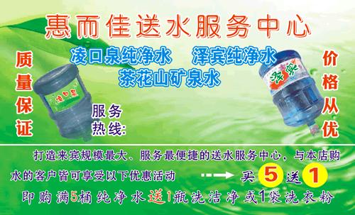 凌口泉纯净水名片_凌口泉纯净水名片模板免费下载