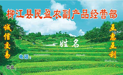 名片设计之家 仿制名片模板 综合商店名片  柳江县民盈农副产品经营部