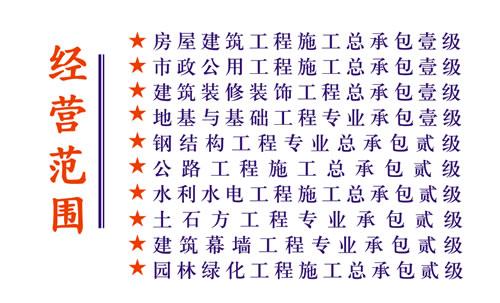 承包壹级等称号等相关的名片设计模板源文件以供名片