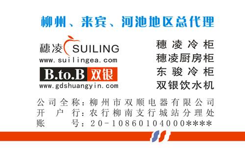 柳州市双顺电器有限公司名片设计欣赏